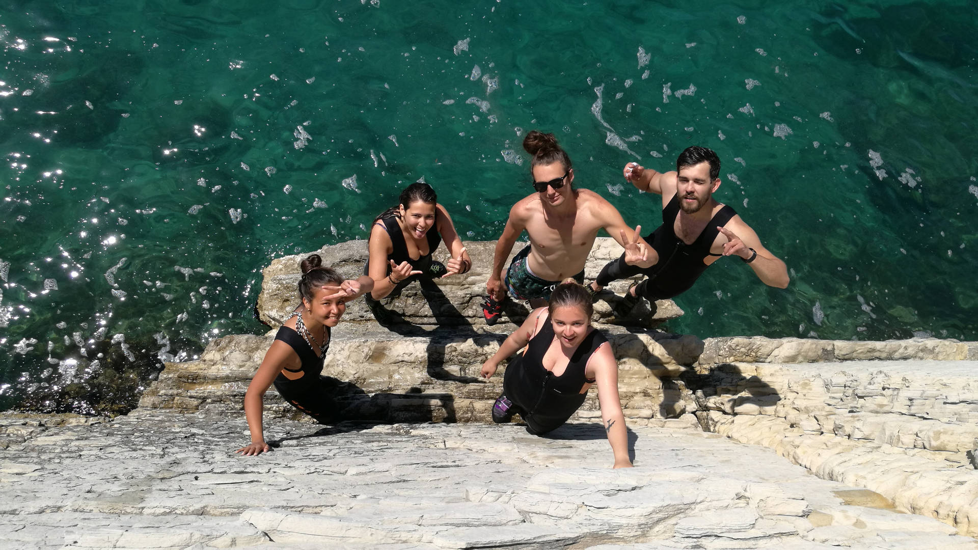 Cliff jumping and deep water soloing